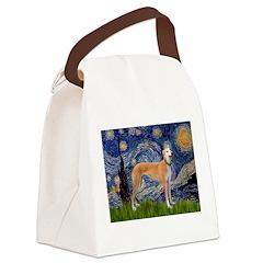 Starry / Greyhound (f) Canvas Lunch Bag