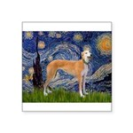 Starry / Greyhound (f) Square Sticker 3