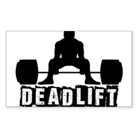 Deadlift Black Sticker (Rectangle)