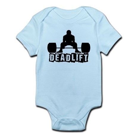 Deadlift Black Infant Bodysuit