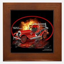 1920 Type 75 Pumper Fire Truck Framed Tile