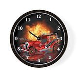 Firefighter paramedic Wall Clocks