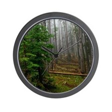 Pine forests 2 Wall Clock