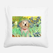 Irises / Havanese Square Canvas Pillow