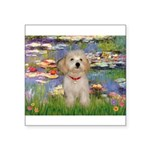 Lilies / Havanese Square Sticker 3