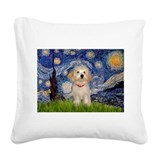 Havanese Square Canvas Pillows