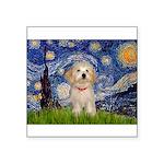 Starry / Havanese Square Sticker 3