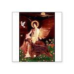 Angel / Irish Setter Square Sticker 3