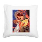 Mandolin / Ital Greyhound Square Canvas Pillow