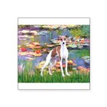 Lilies2/Italian Greyhound Square Sticker 3