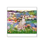 Lilies / Ital Greyhound Square Sticker 3