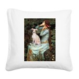 Italian greyhound Square Canvas Pillows