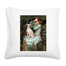 Ophelia / Italian Greyhound Square Canvas Pillow