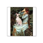 Ophelia / Italian Greyhound Square Sticker 3