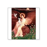 Seated Angel / Ital Greyhound Square Sticker 3