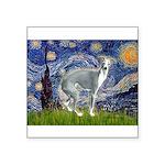 Starry Night/Italian Greyhoun Square Sticker 3