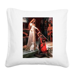 Accolade / Ital Greyhound Square Canvas Pillow
