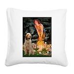 Fairies/ Italian Spinone Square Canvas Pillow