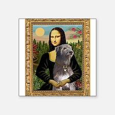 "Mona / Irish Wolf Square Sticker 3"" x 3"""