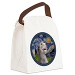 Starry Irish Wolfhound Canvas Lunch Bag