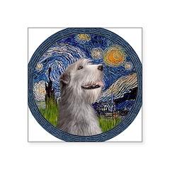 Starry Irish Wolfhound Square Sticker 3