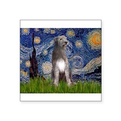 Starry/Irish Wolfhound Square Sticker 3