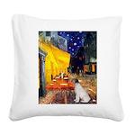 Cafe / JRT Square Canvas Pillow