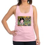Irises/Japanese Chin Racerback Tank Top