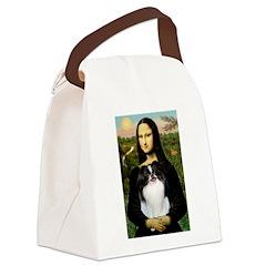 Mona Lisa/Japanese Chin Canvas Lunch Bag