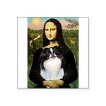 Mona Lisa/Japanese Chin Square Sticker 3