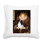 Queen/Japanese Chin Square Canvas Pillow