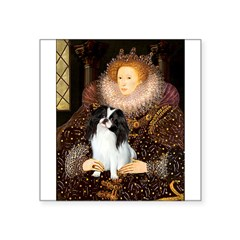 Queen/Japanese Chin Square Sticker 3