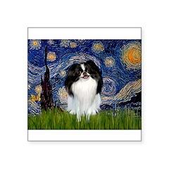 "Starry/Japanese Chin Square Sticker 3"" x 3"""