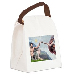 Creation/ Keeshond Canvas Lunch Bag