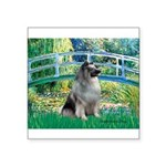 Bridge / Keeshond Square Sticker 3