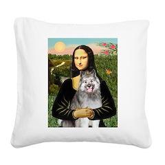 Mona's Keeshond (E) Square Canvas Pillow