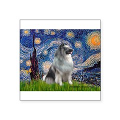 Starry / Keeshond Square Sticker 3
