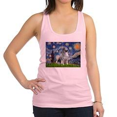 Starry / Keeshond Racerback Tank Top