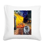 Terrace Cafe - Keeshond (F).png Square Canvas Pill