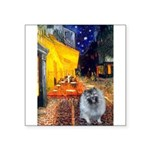 Terrace Cafe - Keeshond (F).png Square Sticker 3