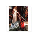 The Accolade - Two Keeshonds.png Square Sticker 3