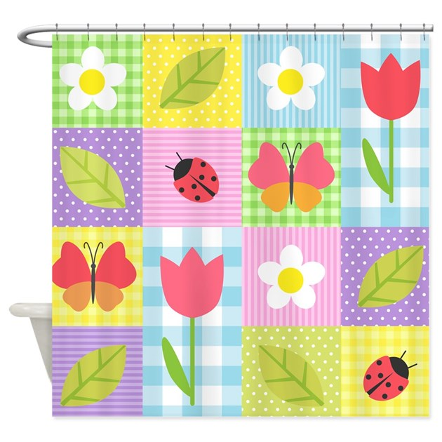 Colorful patchwork shower curtain by bestshowercurtains Colorful shower curtains