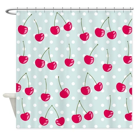 Cute Cherries Shower Curtain By BestShowerCurtains