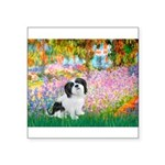 Garden / Lhasa Apso #2 Square Sticker 3