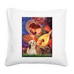 Mandolin / Lhasa Apso #4 Square Canvas Pillow