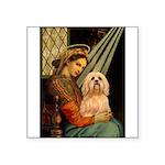 Madonna / Lhasa Apso #9 Square Sticker 3