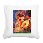 Mandolin / Lhasa Apso #9 Square Canvas Pillow