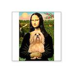 Mona / Lhasa Apso #9 Square Sticker 3