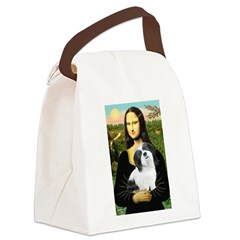 Mona / Lhasa Apso #2 Canvas Lunch Bag
