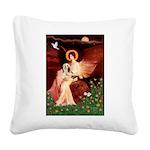 Angel / Lhasa Apso #4 Square Canvas Pillow